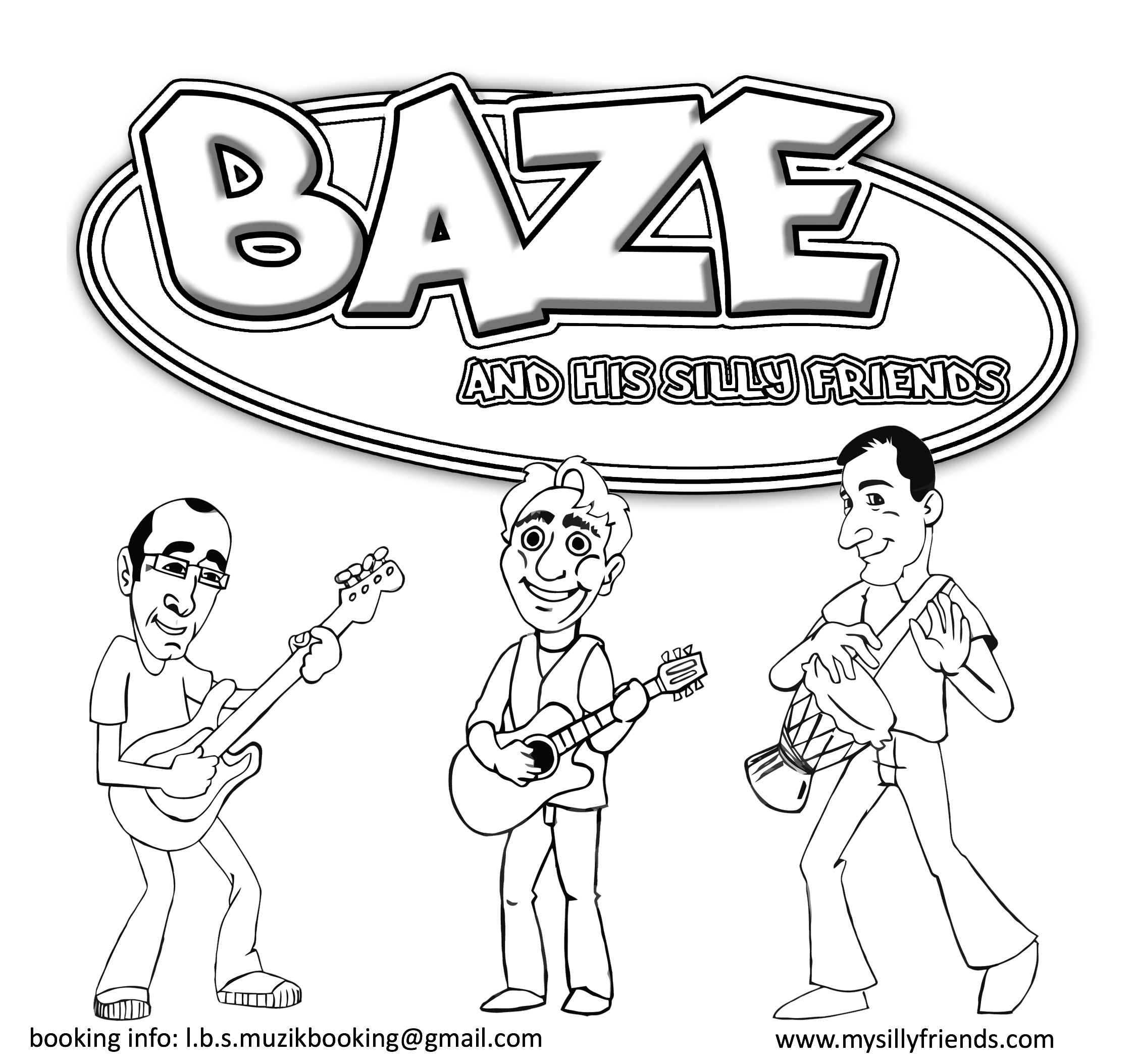 Coloring Pages Family Fun | Baze and His Silly Friends